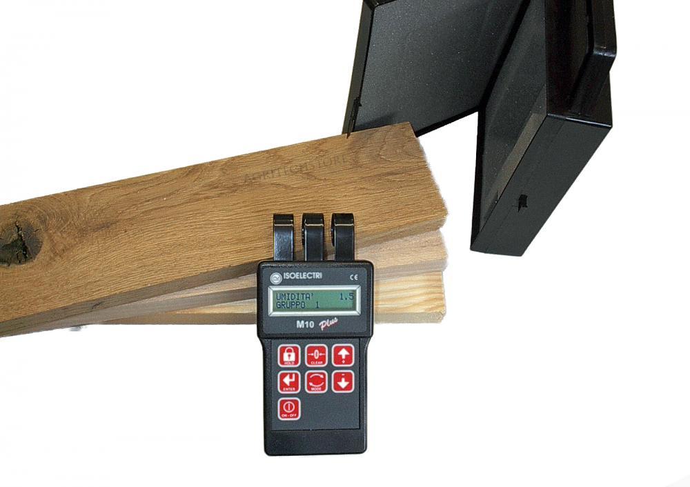 Misuratore elettronico dell' umidità del legno M10  Modello a sfioramento