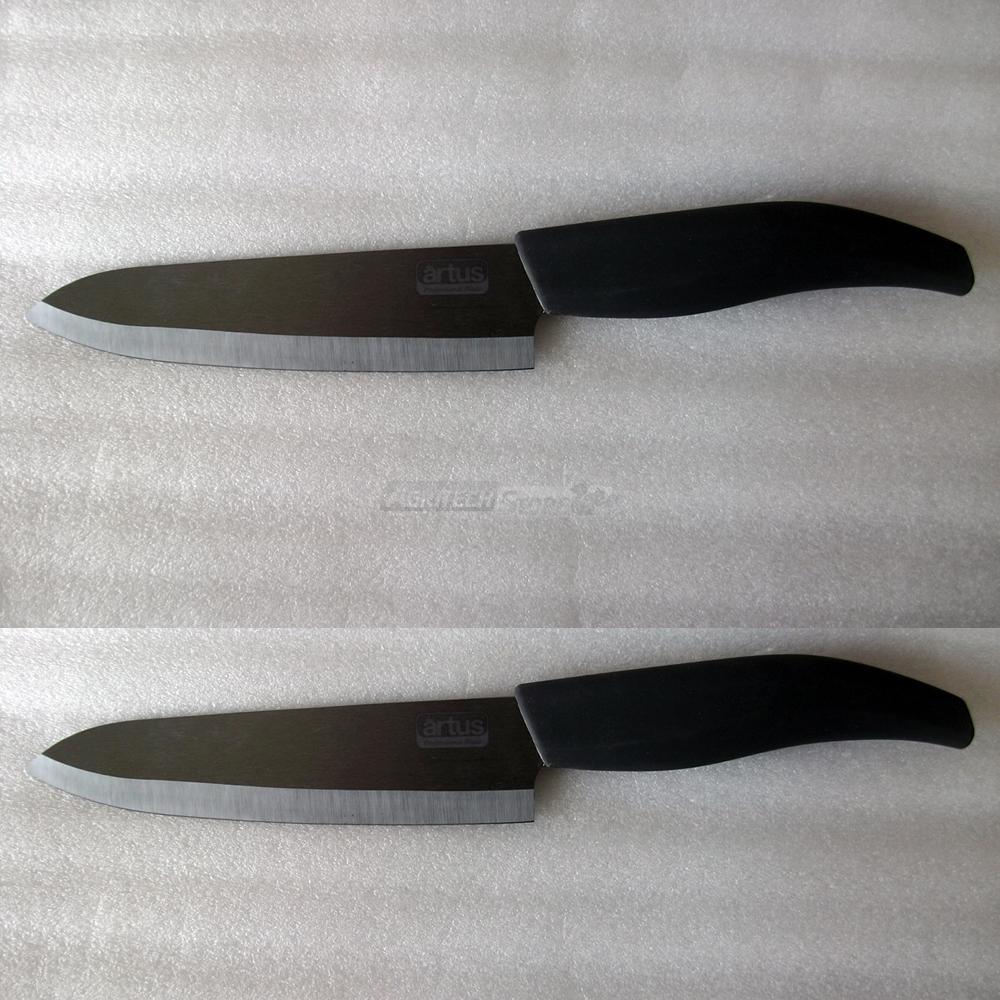 Coltello da tavola set 2 coltelli in ceramica giapponese - Coltelli da tavola montana ...
