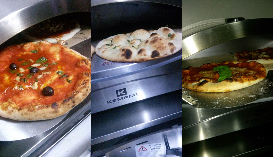 Forno per pizza a gas kemper su 39 pietra refrattaria in for Temperatura forno pizza