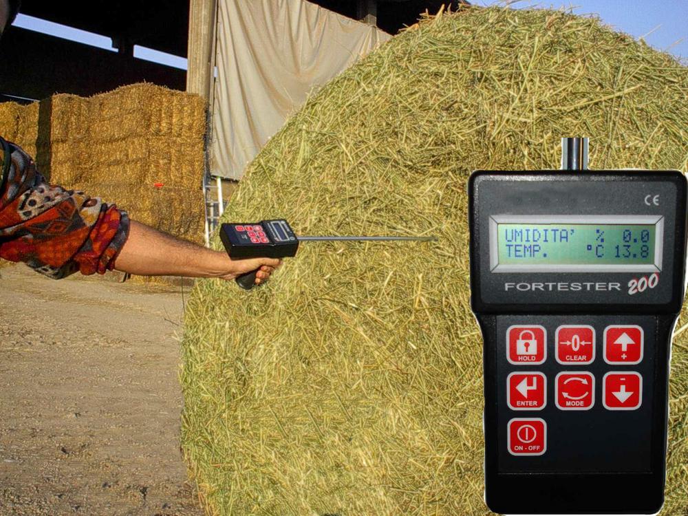 Misuratore elettronico dell' umidità dei foraggi portatile  Fortester 200