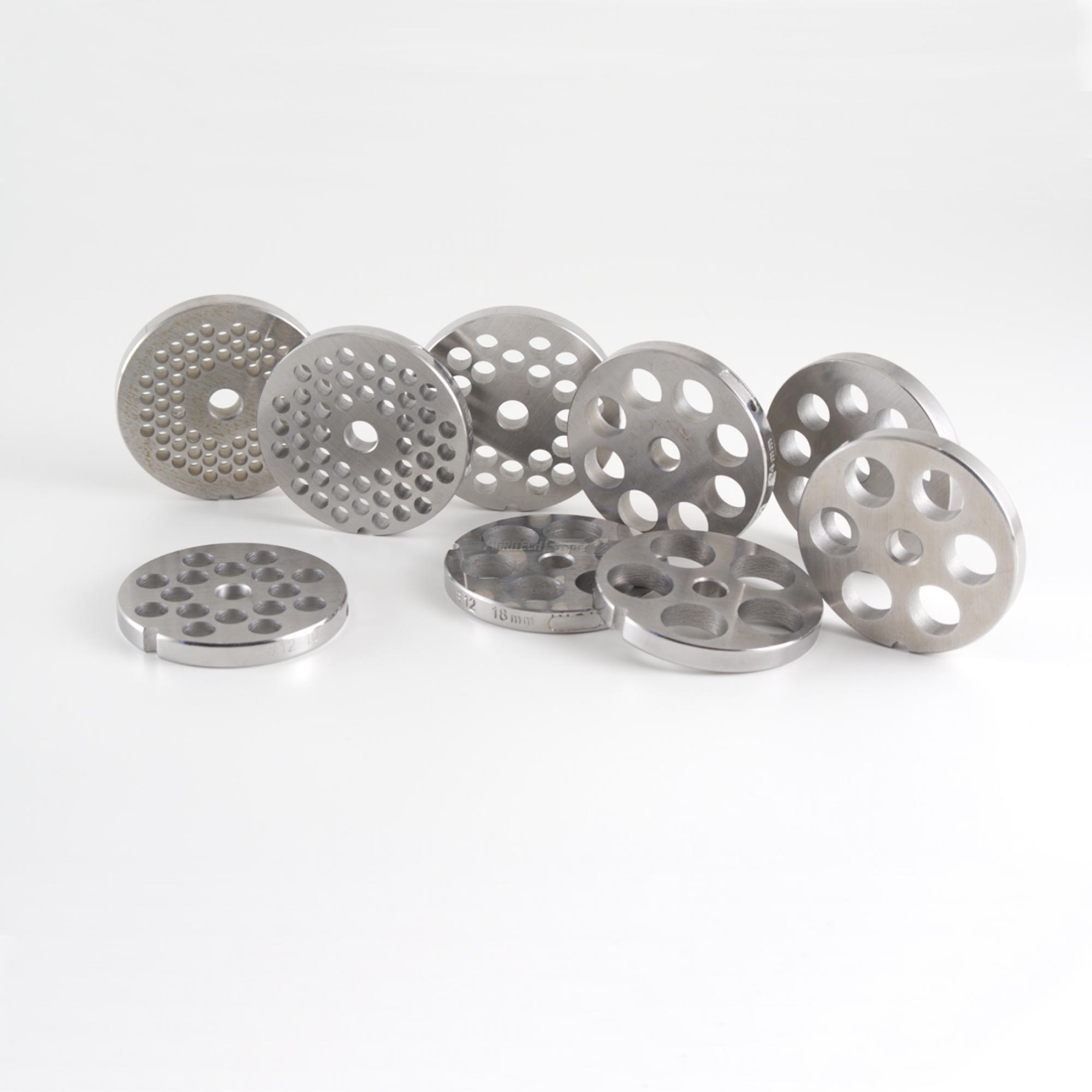 Piastra in acciaio inox reber per tritacarne tc12 - Piastra in acciaio inox per cucinare ...