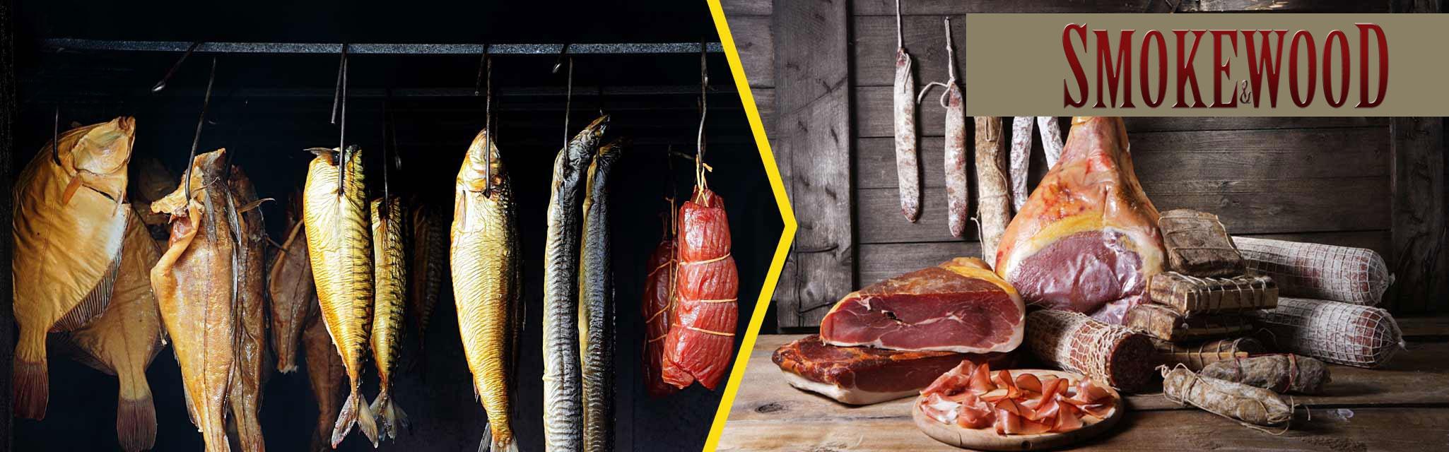 Affumicatura di carne e pesce con legni naturali selezionati