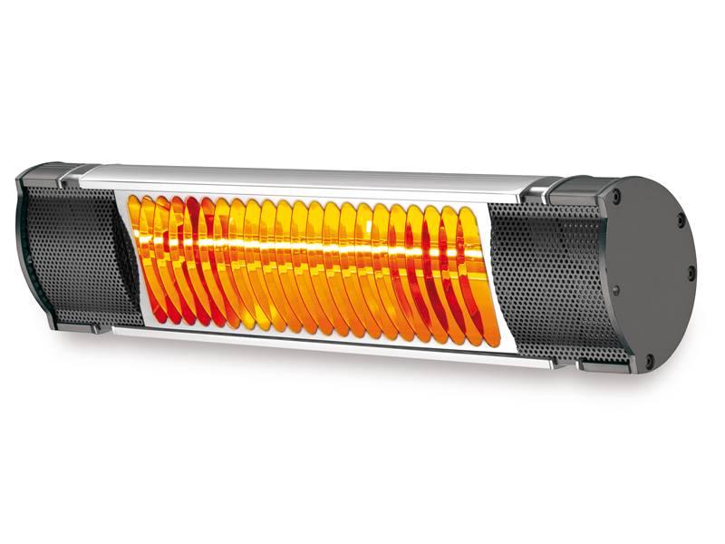 Riscaldamento infrarosso con lampade professionali in pronta