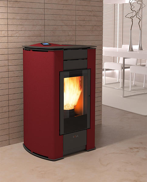 sabina di cola stufa a pellet ventilata in acciaio verniciato potenza 10 41 kw. Black Bedroom Furniture Sets. Home Design Ideas