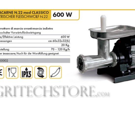 9500 N Tritacarne Reber N22 Mod Classico
