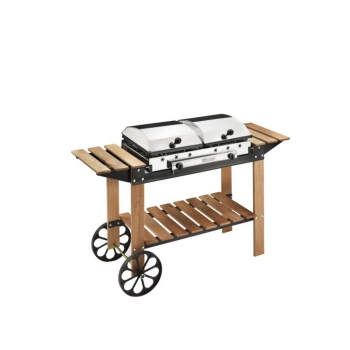 Barbecue Ferraboli Ghisa Gas Legno INOX Art.049