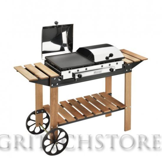 Barbecue Ferraboli Ghisa Gas Legno Inox Art049