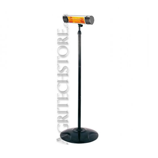 Miglior prezzo Riscaldatore elettrico professionale infrarossi 1,5 KW IP65+Piantana -
