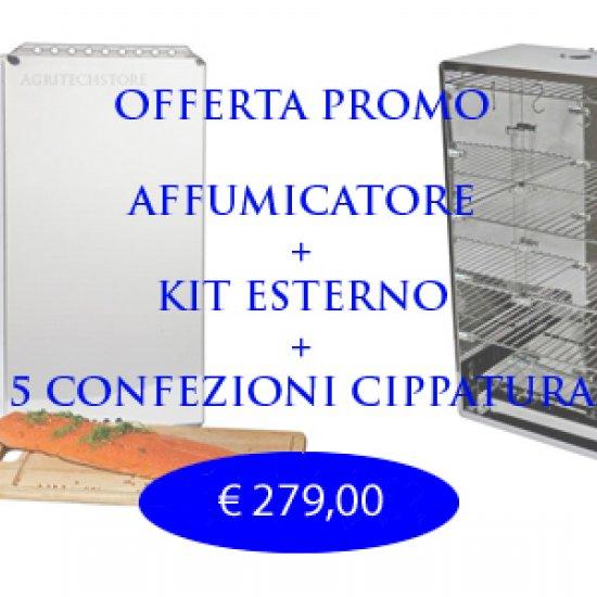 Affumicatore Offerta Completo Di Kit Esterno E 6 Kgcippato