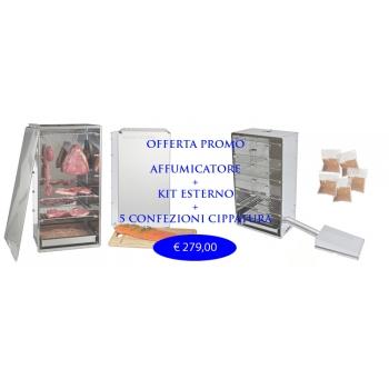Affumicatore Offerta completo di Kit esterno e 5 Kg.Cippato
