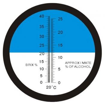 Rifrattometro Alcoolometro ottico RHW 25 Brix ed Alcool