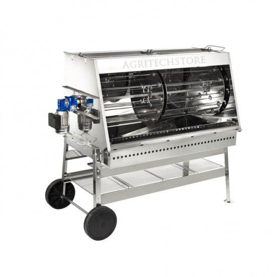 Girarrosto Professionale In Acciaio Inox Cm120 Ad 8 Lance