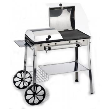 Barbecue Ferraboli,Stereo Ghisa Gas Inox Art.095