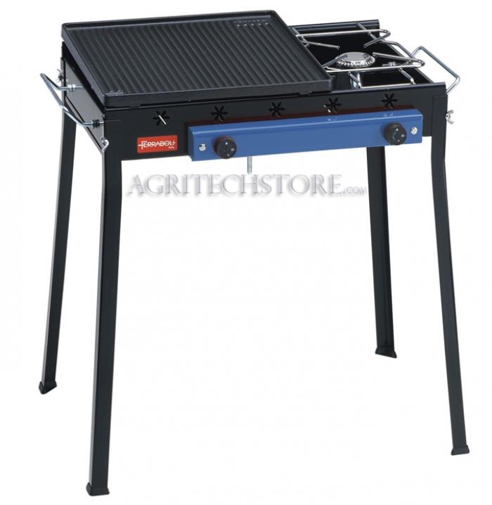 Barbecue Ferraboli Combinato Ghisa Gas Art.092