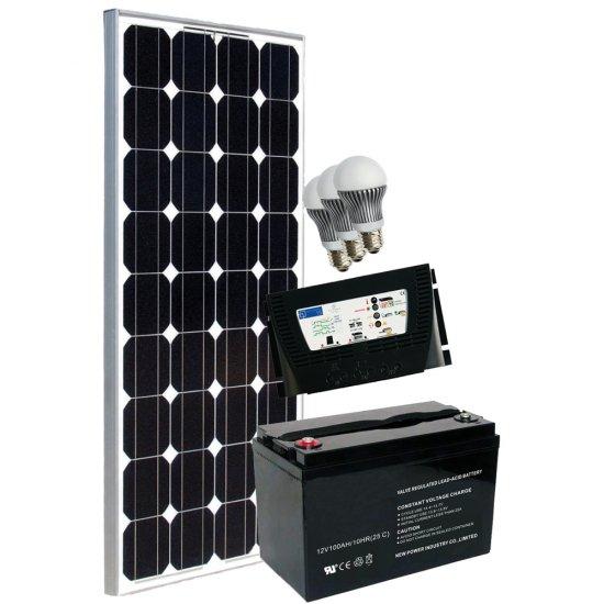 Offerte pazze Comparatore prezzi  Kit Fotovoltaico Completo Grid Free 100 12 V  il miglior prezzo