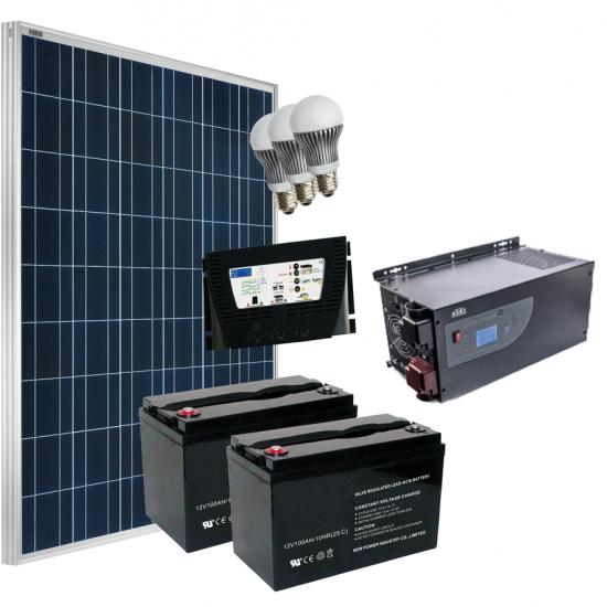 Offerte pazze Comparatore prezzi  Kit Fotovoltaico Completo Grid Free 250 230 V  il miglior prezzo