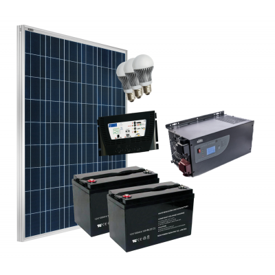 Kit Fotovoltaico Completo GRID-FREE 250-230 V