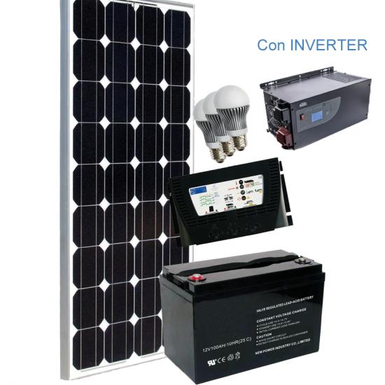 Miglior prezzo Kit Fotovoltaico Completo con Inverter GRID-FREE 100 12 V -