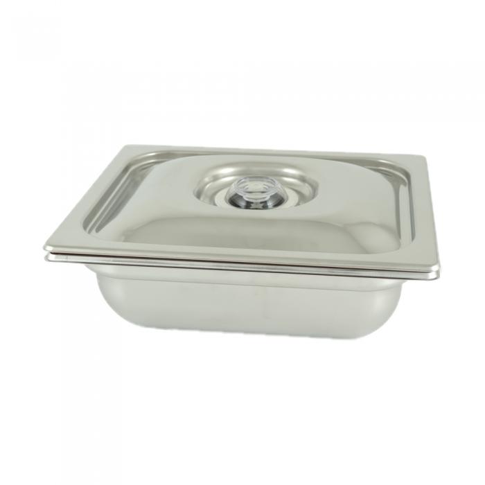 Vasca Inox H 100 1/2 Gastronorm per cottura Sottovuoto
