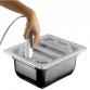 Vasca Inox H 150 1/2 Gastronorm e coperchio tritan