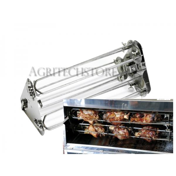 Portastinchi e Galletti Kit per Girarrosto 70 cm 6 Lance