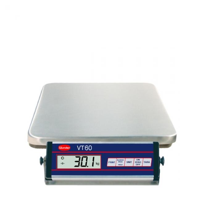 Bilancia VT60 INOX interamente in acciaio inox - Portata 60 Kg.