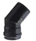 Curva a 45° Verniciata Nero con guarnizione Ø 80 mm
