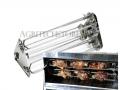 Portastinchi e Galletti Kit per Girarrosto cm. 100 a 4 Lance