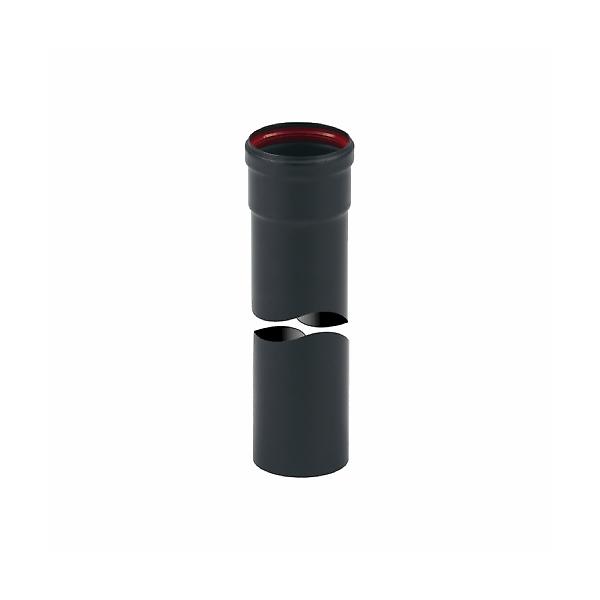 Tubo Inox Verniciato Nero con guarnizione Metri 1 x Ø 80 mm