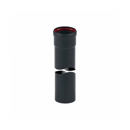 Miglior prezzo Tubo Inox Verniciato Nero Mt. 0,5 con guarnizione Ø 80 mm -