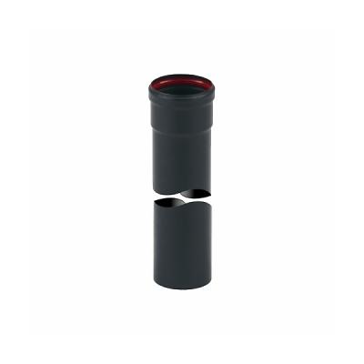 Tubo Inox Verniciato Nero Mt. 0,5 con guarnizione Ø 80 mm