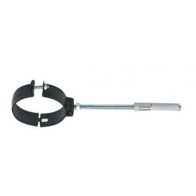 Collare fissaggio con tassello Verniciato Nero Ø 80 mm