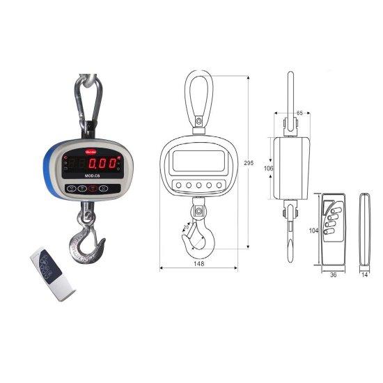 Dinamometro Elettronico Multifunzione Cs300 Portata Kg300