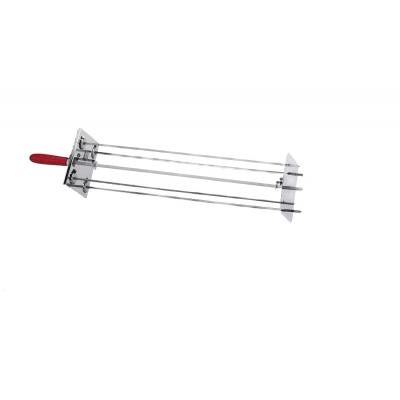 Raggiera satellitare per girarrosto 4 Lance 70 cm. 0546+Asta