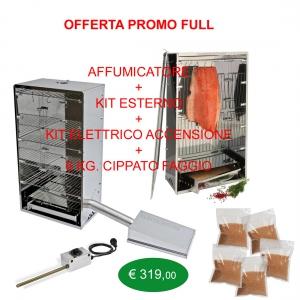 Affumicatore Offerta Full kit esterno, starter kit e 6 Kg.Cippato