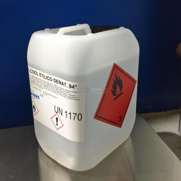 Alcool Etilico Denaturato 94° in Tanica da Litri 5