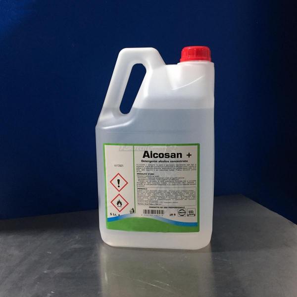 Alcosan PLUS 70% - Detergente Igienizzante Alcolico Litri 5