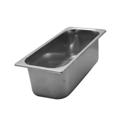 Bacinella per gelateria in acciaio inox h 150 mm 6,5 lt. spessore 0,7 mm