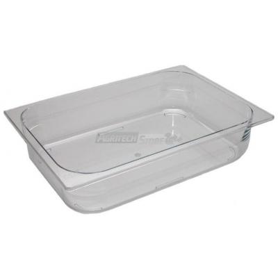 Bacinella per gelateria in policarbonato trasparente h 80 mm