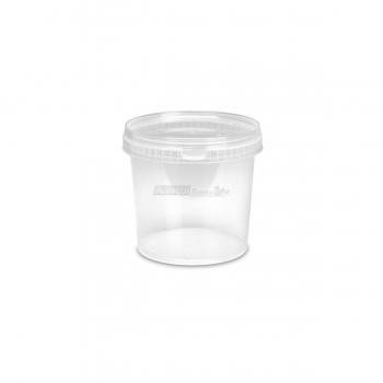 Barattoli in plastica MU1004 lt. 1 conici trasparenti con coperchi