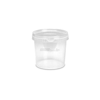 Barattoli in plastica MU1004/2 lt. 1 conici trasparenti con coperchi