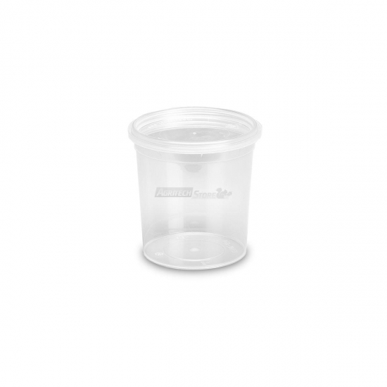 Barattoli In Plastica Mu150 Lt 0155 Conici Trasparenti Con Coperchi