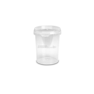 Barattoli in plastica MU500 lt. 0,520 conici trasparenti con coperchi