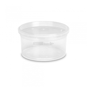 Barattoli in plastica MU881 lt. 0,5 conici trasparenti con coperchi