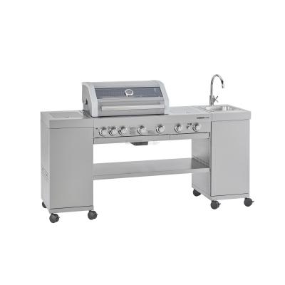 Stazione di Cottura completa di Barbecue a Gas Videro Kitchen