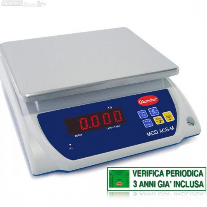 """Bilancia da Tavolo """"Certificata"""" Multiuso Portata 6/15 Kg"""