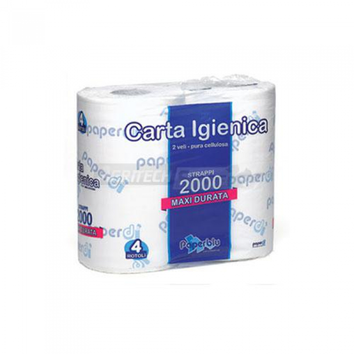 Carta Igienica Paperblu 2000 Conf. 4 Rotoli da 500 strappi