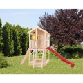 """Casetta con scivolo per bambini in abete naturale """"Gard@land"""" cm 382x257"""