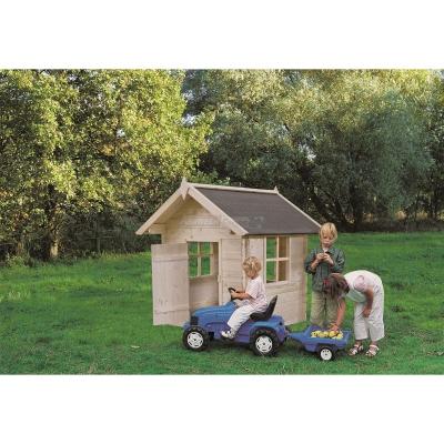 "Casetta per bambini in abete naturale ""Bambi"" cm 128x128"