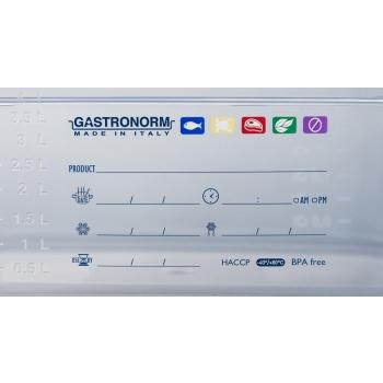 Contenitore Gastronorm 1/1 H 150 polipropilene HACCP
